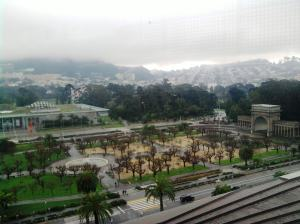 Golden Gate Park from the top floor of the DeYoung Museum on New Year's Day 2011.