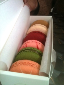 Tea and Sympathy:  A stop at Chantal Guillon for macaroons with my foodie younger cousins.