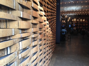 Design in the Every Day: Reclaimed wood from wine barrels