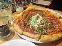 Arrabiata pizza with farm fresh egg at my local Italian joint Gialina.