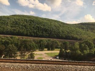 The Horseshoe Curve on the Amtrak