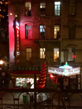 Mr. Jiu's balcony over Waverly Place In Chinatown