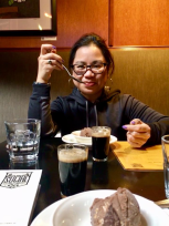 San Francisco Bay Area Beer Week: shot and ice cream dish of stout